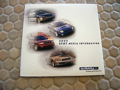 Subaru Official Forester Baja Legacy Wrx Press Cd Brochure 2002
