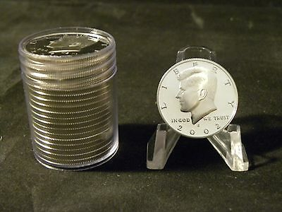 2002 S 90% Silver Proof Kennedy Half Dollar Roll  20 Coins $10 Face #1