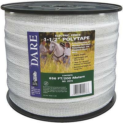 """2 Pk Dare 1-1/2"""" Wide X  656' Long Electric Fence 5 Strand Steel Poly Tape 2576N"""