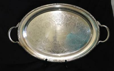 CAMILLE Waiter TRAY large OVAL SilverPlate 24x14 HANDLES Int'l Silver Co 6081