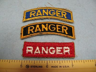 """Vintage U.s. Army """"ranger"""" Colored Tab Collection ~Lot Deal~"""