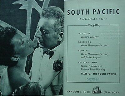 South Pacific (Rodgers & Hammerstein Musical Play) 1949 Book (Mary Martin +