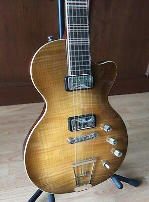 Beautiful Hofner Contemporary Series Flamed Maple Electric Guitar With Gig Bag