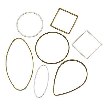 10 Pcs Closed Round Square Oval Jump Ring Jewelry Making Findings Connectors DIY