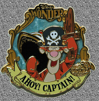 DISNEY Pin LE 500 DCL - Tigger - Ahoy Captain - Captain's Choice January 2007