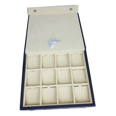 Black Faux Leather Jewelry Traveling Display Case for Earrings Necklaces