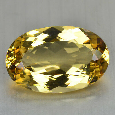 14.46 Cts FANCY QUALITY GOLDEN YELLOW COLOR NATURAL HELIDOR BERYL GEMSTONES