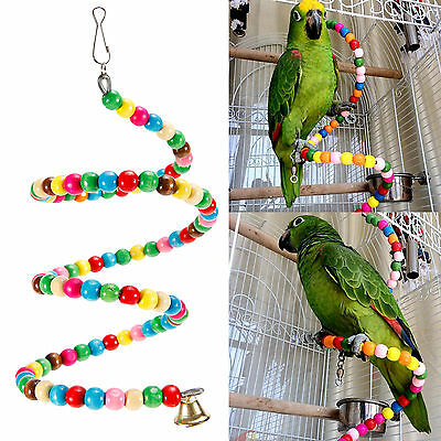 Bird Toy Parrot Swing Cage Spiral Ladder Toys For Parakeet Cockatiel Budgie