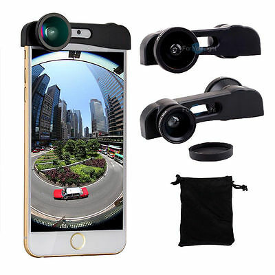 3 in1 Fisheye + Wide Angle + Macro Quick Change Camera Lens Kit For iPhone 6S 6