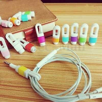 USB Earphone Headphone Cord Winder Organizer Wrap Cable Holder For iPhone 6 6s