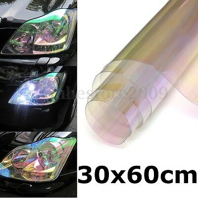 30x60cm Clear Chameleon Car Headlight Tail Fog Light Vinyl Tint Film Sticker SUV