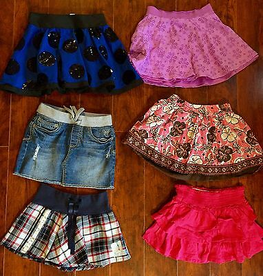 GIRLS Lot SKORTS SIZE 8 ALL JUSTICE Colorful Back 2 School Skirt Free Shipping