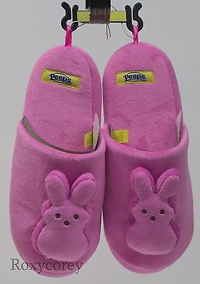Peeps Adult Plush Bunny Slippers Size Large NWT