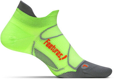 Feetures Elite Ultra Light No Show Tab Running Socks - Green