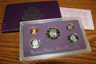 1993 S United States Mint 5 Coin Proof Set High Grade Box & Paperwork
