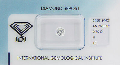 Diamant 0,70ct H IF