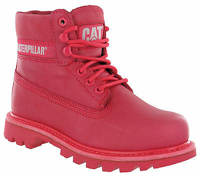 Caterpillar Colorado Teaberry Leather Ankle Boots Lace Up Womens CAT UK 3-7
