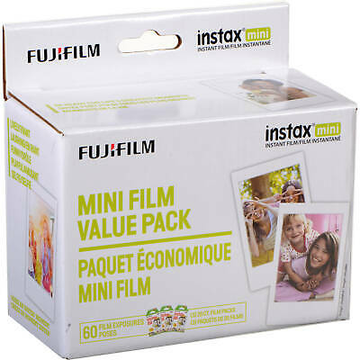 Fujifilm Instax Mini Film Value Pack - 60 Images (Color/ White Frame)