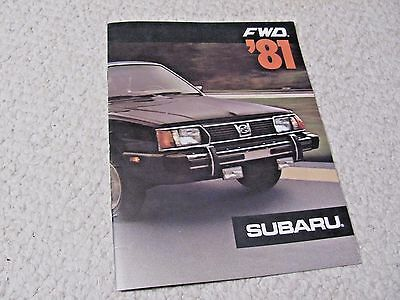 1981 Subaru (Usa) Sales Brochure..
