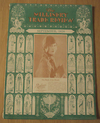 "RARE 1928 Women's HAT Making Magazine~""The MILLINERY TRADE REVIEW""~"