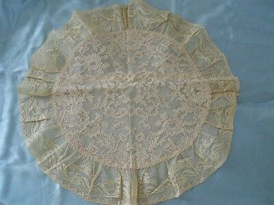 Antique  Lace Envelope Pillow  Embroidery   Carlin New York