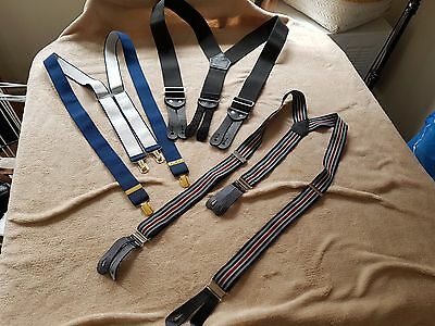 """""""Works by Welch"""" 2inch wide black braces, plus 2 other pairs of Braces.."""