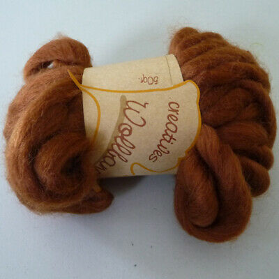 Decor Wool band Wool cord Ball of wool Wool ideal for Frisk 12mm brown 50g/9m