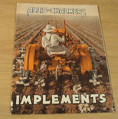 "ORIGINAL 1933 TRACTOR Pulled/HORSE Drawn Catalog~""ALLIS-CHALMERS IMPLEMENTS"""