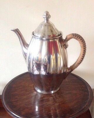 Sterling Silver Teapot Coated On Porcelain, In Immaculate Condition. 8.5""