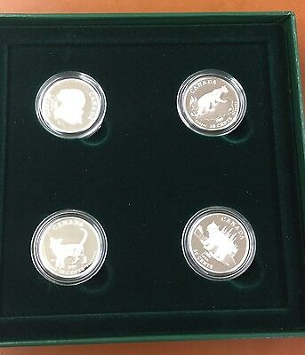 1999 Cats Of Canada Fifty Cent Silver Proof Canada Set Original Packaging COA