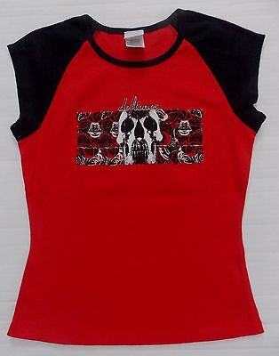 Deftones- NEW JUNIORS / BABY DOLL Skull T Shirt- XLarge SALE FREE SHIP TO U.S.