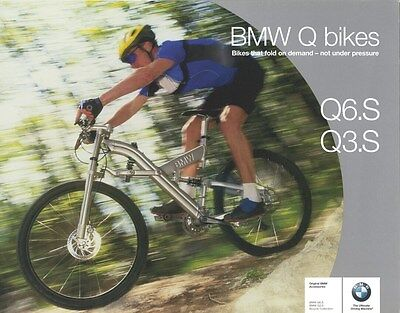 2001 BMW Q6.S Q3.S Folding Bicycle Bike Brochure d0915