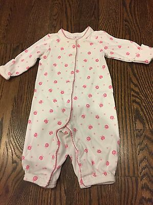 Gymboree Infant Girls One-piece Outfit (0-3 Months) White W/ Pink Ladybugs