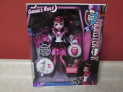 Monster High Doll Draculaura Ghouls Rule Doll 2012 New Sealed