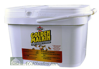 Golden Malrin Muscamone Fly Bait Attractant in a 10 Lb Pail NEW SIZE! No NY, AK