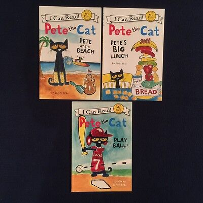 Lot of 3 Children's Picture Books James Dean: Pete the Cat Series - Paperbacks