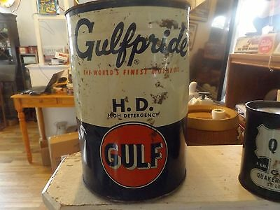 Vintage Gulfpride H D Motor Oil 5 Qt Can