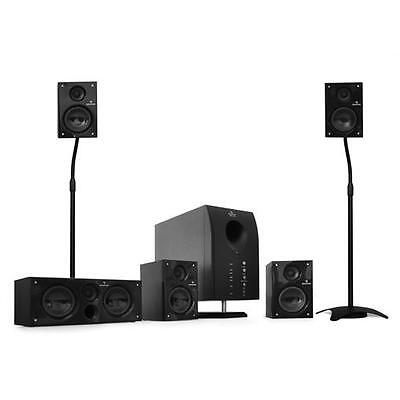 "ALTAVOCES BAFLES SISTEMA HOME CINEMA THEATRE CINE CASA 5.1""Flash"" + SOPORTES"
