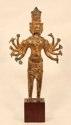 Khmer style bronze figure of Sadasiva or Hevajra