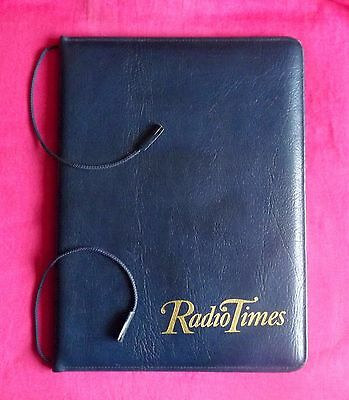 Blue Leather Radio Times Folder/ Cover