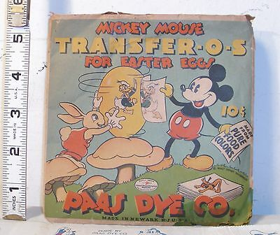 WALT DISNEY MICKEY MOUSE 1930s TRANSFER-O-S FOR EASTER EGGS IN PACKAGE