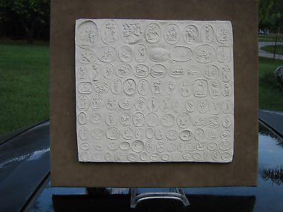 Collection of Erotic Roman Italian Signets Cast in Plaster, Mounted Rare Item