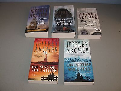 Lot of 5 Clifton Chronicles Novel Suspense books[[* by Jeffrey Archer