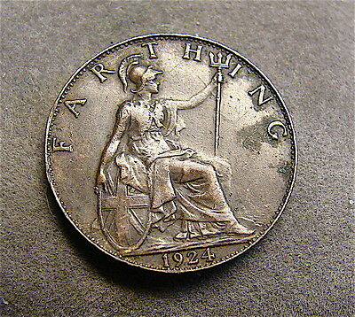 Great Britain~~~~1924 Farthing~~~nice coin