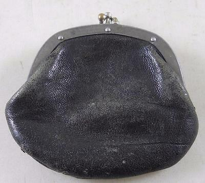 Vintage Leather Change Purse - 2 Pouch Coin Holder -