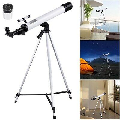 600/50mm Astronomical Refractor Telescope Refractive Eyepieces Tripod Beginners