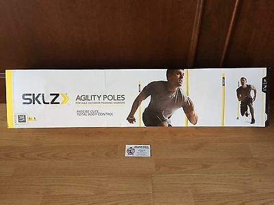 New 8 Sklz Agility Poles Outdoor Training Markers - Soccer, Football, Lacrosse