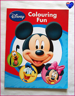 MICKEY MOUSE Disney COLOURING FUN BOOK - Minnie Clubhouse Colour in / Color NEW