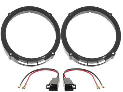 Speaker adapter rings 6 1/2in+Cable for Seat Ibiza 6L Speaker FRONT+TAILGATE