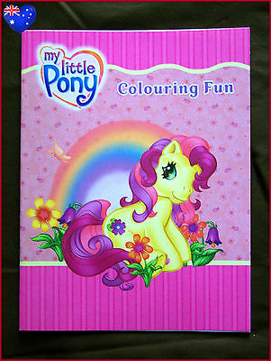 MY LITTLE PONY COLOURING FUN BOOK - Gorgeous Ponies Colour In Color - NEW